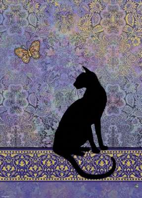 Silhouette (Cats) (HEY29534), a 1000 piece jigsaw puzzle by HEYE. Click to view larger image.