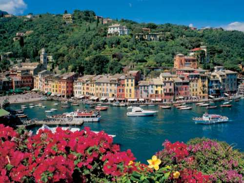 Italy, Riviera, Portofino (RB16640-4), a 2000 piece jigsaw puzzle by Ravensburger. Click to view larger image.