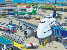 Airport (RB10763-6), a 100 piece Ravensburger jigsaw puzzle.