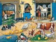 Animal Life (on the Farm) (RB10743-8), a 100 piece Ravensburger jigsaw puzzle.