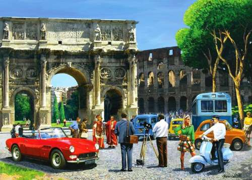 Streets of Rome (HOL093861), a 1000 piece jigsaw puzzle by Holdson. Click to view larger image.