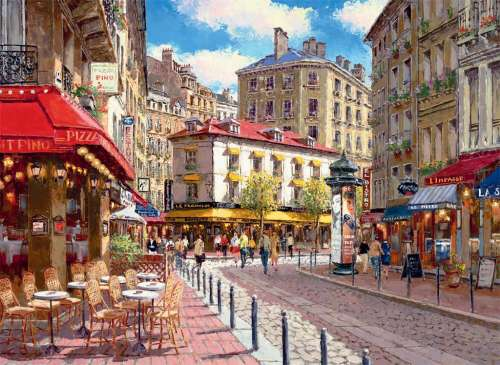 Quaint Shops (RB14116-6), a 500 piece jigsaw puzzle by Ravensburger. Click to view larger image.