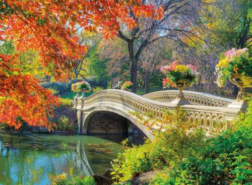 Romantic Bridge (RB14231-6), a 500 piece jigsaw puzzle by Ravensburger. Click to view larger image.