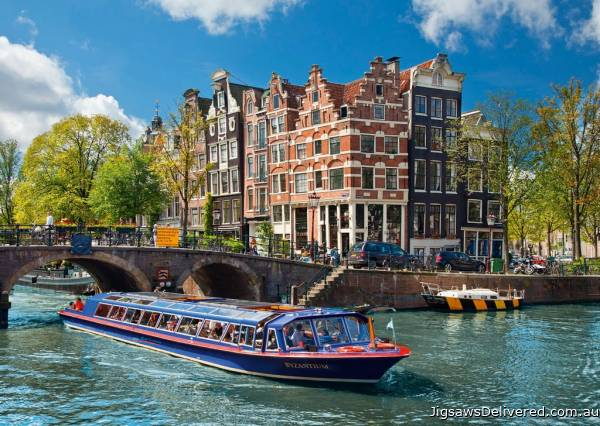 Amsterdam (RB19138-3), a 1000 piece jigsaw puzzle by Ravensburger.