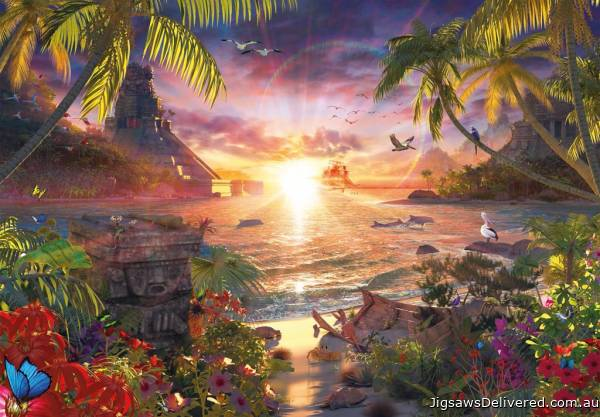 Heavenly Sunset (18000pc) (RB17824-7), a 18000 piece jigsaw puzzle by Ravensburger.