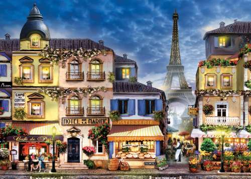 Pretty Paris (Large Pieces) (RB13560-8), a 300 piece jigsaw puzzle by Ravensburger. Click to view larger image.