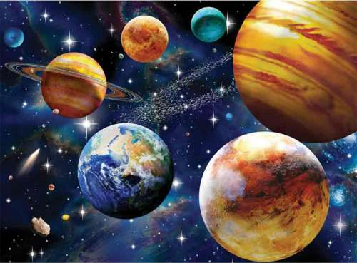 Space (RB10904-3), a 100 piece jigsaw puzzle by Ravensburger. Click to view larger image.