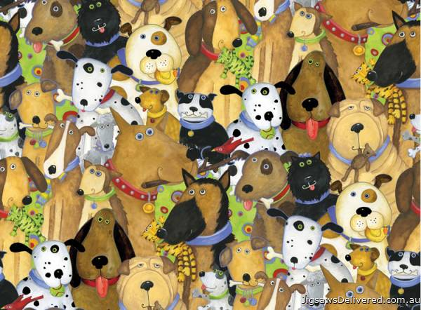 Quirky Dogs (RB14296-5), a 500 piece jigsaw puzzle by Ravensburger.