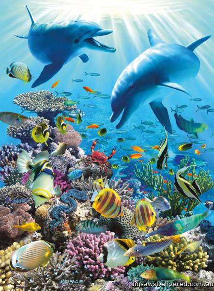 Underwater Adventure (RB13022-1), a 300 piece jigsaw puzzle by Ravensburger.