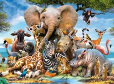 Favourite Wild Animals (RB13075-7), a 300 piece Ravensburger jigsaw puzzle.