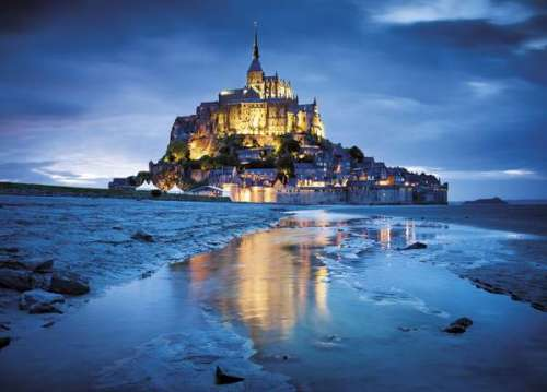 Mont St. Michel, France (CLE 31994), a 1500 piece jigsaw puzzle by Clementoni. Click to view larger image.