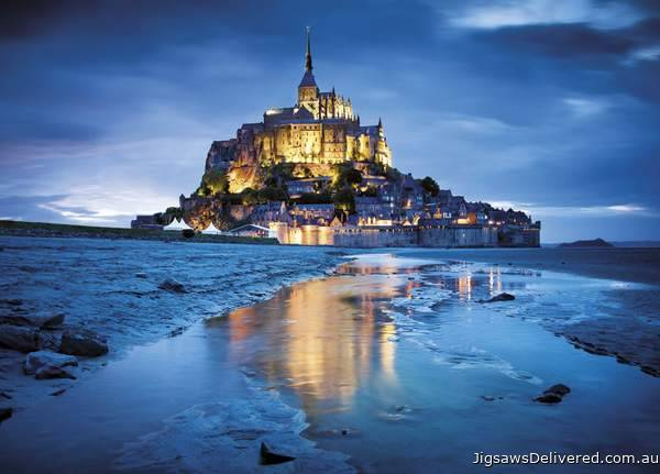 Mont St. Michel, France (CLE 31994), a 1500 piece jigsaw puzzle by Clementoni.