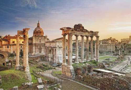 Roman Forum (CLE 32549), a 2000 piece jigsaw puzzle by Clementoni. Click to view larger image.