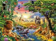 At the Watering Hole (RB13073-3), a 300 piece Ravensburger jigsaw puzzle.