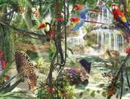 Jungle Impressions (RB16610-7), a 2000 piece Ravensburger jigsaw puzzle.