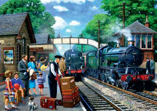 Steam Express (JUM11027), a 1000 piece jigsaw puzzle by Jumbo. Click to view larger image.