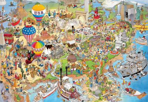 USA (5000pc) (JUM17316), a 5000 piece jigsaw puzzle by Jumbo. Click to view larger image.