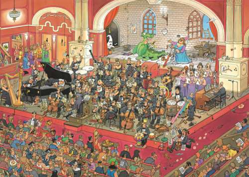 The Opera (St. George and the Dragon) (JUM17214), a 1000 piece jigsaw puzzle by Jumbo. Click to view larger image.