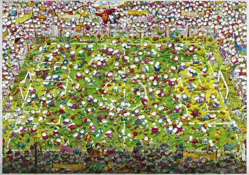 Crazy World Cup (HEY29072), a 4000 piece jigsaw puzzle by HEYE. Click to view larger image.