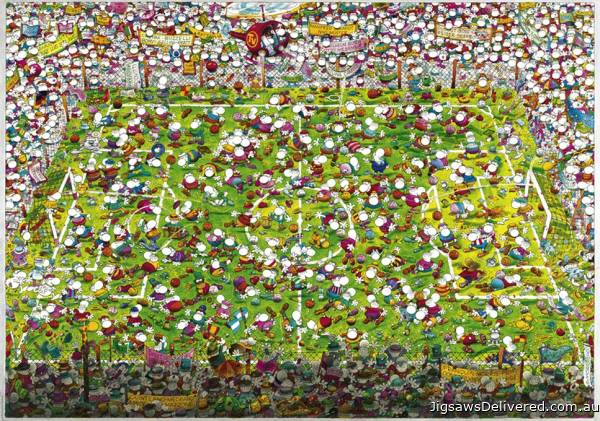 Crazy World Cup (HEY29072), a 4000 piece jigsaw puzzle by HEYE.