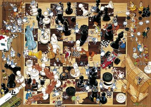 Black or White (HEY08793), a 1000 piece jigsaw puzzle by HEYE. Click to view larger image.
