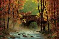 Autumn Bridge (SUN44819), a 1500 piece jigsaw puzzle by Sunsout. Click to view this jigsaw puzzle.
