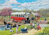 The Old Swing Bridge (Village Life) (HOL093984), a 1000 piece Holdson jigsaw puzzle.