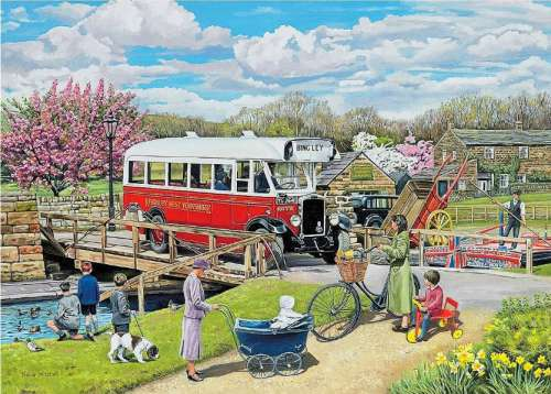 The Old Swing Bridge (Village Life) (HOL093984), a 1000 piece jigsaw puzzle by Holdson. Click to view larger image.