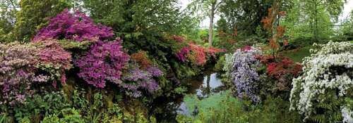 Bodnant Garden Panorama (HEY29473), a 6000 piece jigsaw puzzle by HEYE. Click to view larger image.