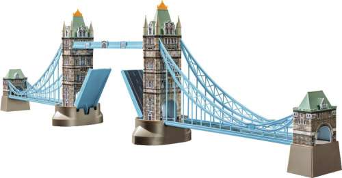 Tower Bridge (3D Puzzle) (RB12559-3), a 216 piece jigsaw puzzle by Ravensburger. Click to view larger image.