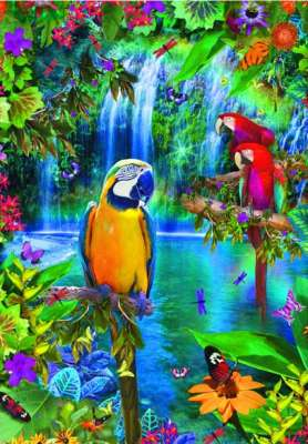 Macaws (EDU15512), a 500 piece jigsaw puzzle by Educa. Click to view larger image.