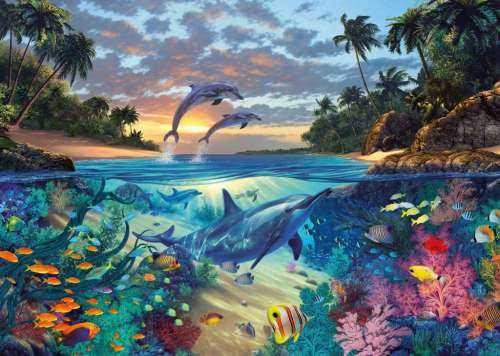 Coral Bay (RB19145-1), a 1000 piece jigsaw puzzle by Ravensburger. Click to view larger image.