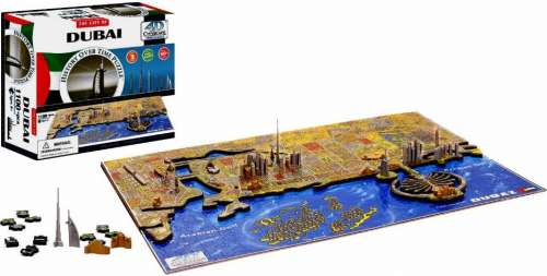 4D Cityscape - Dubai (VEN400463), a 1100 piece jigsaw puzzle by Ventura Games. Click to view larger image.