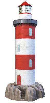 Coastal Lighthouse 3D Puzzle (RB12565-4), a 216 piece jigsaw puzzle by Ravensburger. Click to view larger image.