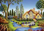 Cottage Dream (Large Pieces) (RB13567-7), a 300 piece Ravensburger jigsaw puzzle.