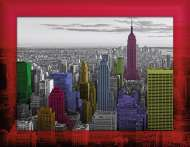 New York Colors (with Frame) (RB14894-3), a 500 piece Ravensburger jigsaw puzzle.