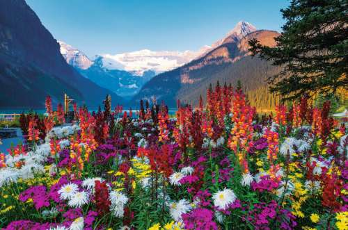 Lake Louise, Canada (RB17061-6), a 3000 piece jigsaw puzzle by Ravensburger. Click to view larger image.