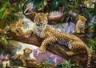 Leopard Family (RB19148-2), a 1000 piece Ravensburger jigsaw puzzle.