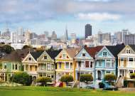 Painted Ladies San Francisco (RB19365-3), a 1000 piece Ravensburger jigsaw puzzle.
