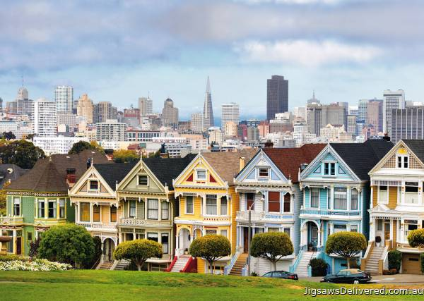 Painted Ladies San Francisco (RB19365-3), a 1000 piece jigsaw puzzle by Ravensburger.