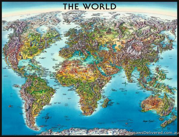 World Map (RB16683-1), a 2000 piece jigsaw puzzle by Ravensburger.