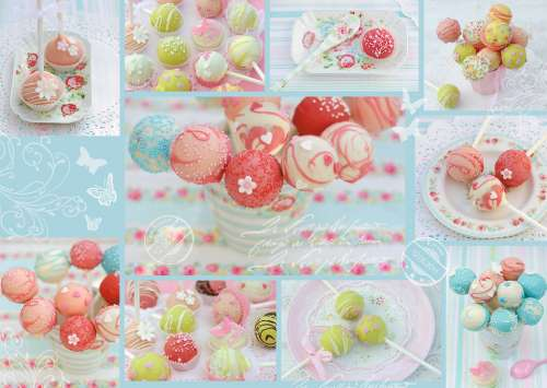 Sweet Cake Pops (RB19368-4), a 1000 piece jigsaw puzzle by Ravensburger. Click to view larger image.