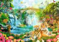 Tiger Grotto (RB19373-8), a 1000 piece jigsaw puzzle by Ravensburger. Click to view this jigsaw puzzle.