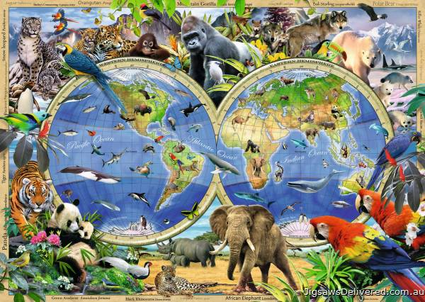 World of Wildlife (RB19385-1), a 1000 piece jigsaw puzzle by Ravensburger.