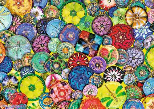 Beautiful Buttons (RB19405-6), a 1000 piece jigsaw puzzle by Ravensburger. Click to view larger image.