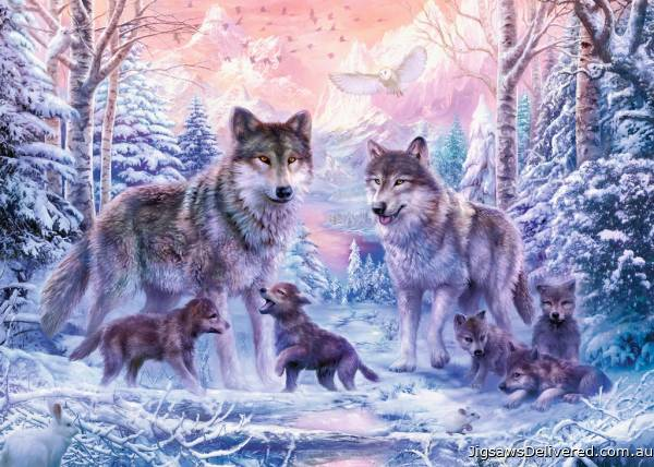 Arctic Wolves (RB19146-8), a 1000 piece jigsaw puzzle by Ravensburger.