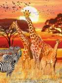African Sunset (RB16298-7), a 1500 piece Ravensburger jigsaw puzzle.