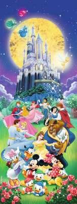 Disney Characters (Vertical) (RB15056-4), a 1000 piece jigsaw puzzle by Ravensburger. Click to view larger image.