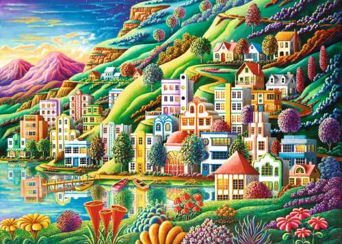 Dream City (RB19402-5), a 1000 piece jigsaw puzzle by Ravensburger. Click to view larger image.
