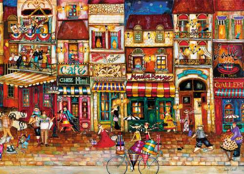Streets of France (RB19408-7), a 1000 piece jigsaw puzzle by Ravensburger. Click to view larger image.